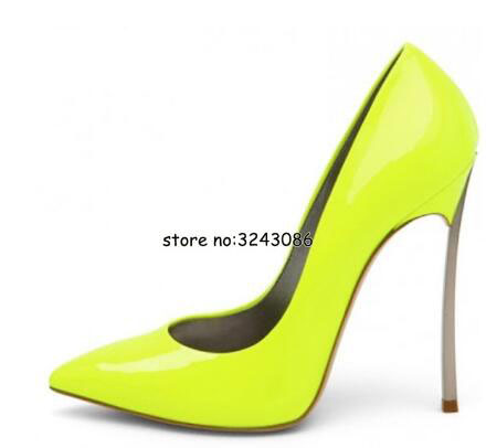 Women Pointed Toe <font><b>Pumps</b></font> Blade Metal High Heels Red Beige Stiletto Court Heeled <font><b>12</b></font> <font><b>cm</b></font> <font><b>Pumps</b></font> Slip-on Office Lady Shoes image