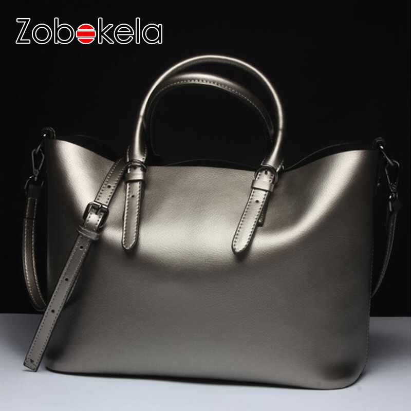 ZOBOKELA Women bags luxury handbags women designer Genuine leather bag female women messenger bag famous brands bolsa feminina 2018 new designer retro genuine leather bags handbags women famous brands ladies office work bag messenger clutch bolsa feminina