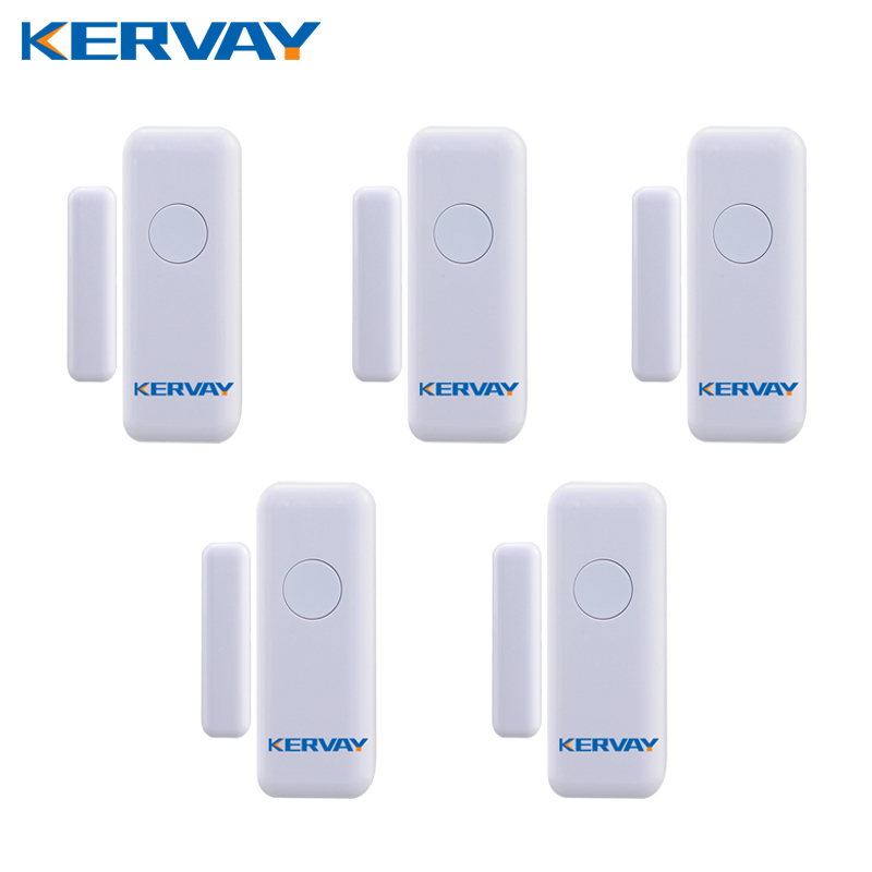 Kervay 5pcs/lot 433mhz wireless Door Window Interlligent security Sensor for K-PG103 WIFI 3G GSM Smart Home alarm system forecum 433mhz wireless magnetic door window sensor alarm detector for rolling door and roller shutter home burglar alarm system