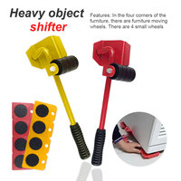 Moves Furniture Tool Transport Shifter Moving Wheel Slider Remover Roller Heavy