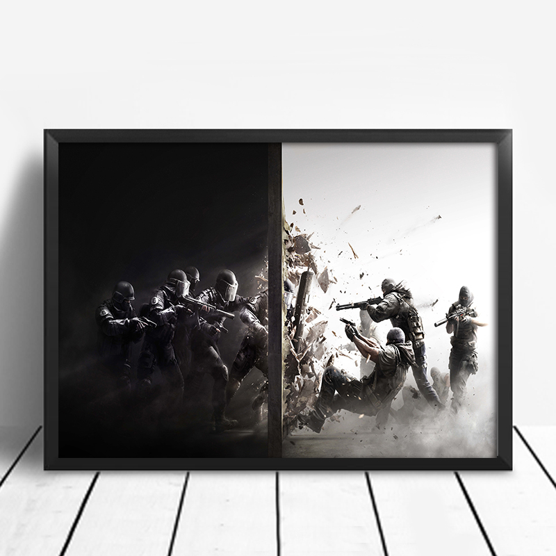 US $8 59 |Rainbow Six Siege Gaming Poster Wall Painting Canvas Art Posters  And Prints Paintings For Living Room Wall Unframed-in Painting &