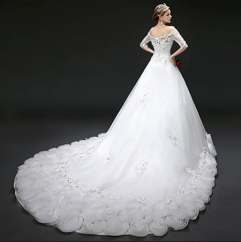 Romantic Custom Made White Red Wedding Dresses 2017 New Arrival A ...