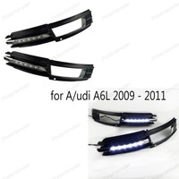 Car DRL for Audis A6 A6L 2009~2011 LED Daytime Running Light Bright fog auto lamp bulb Daylight