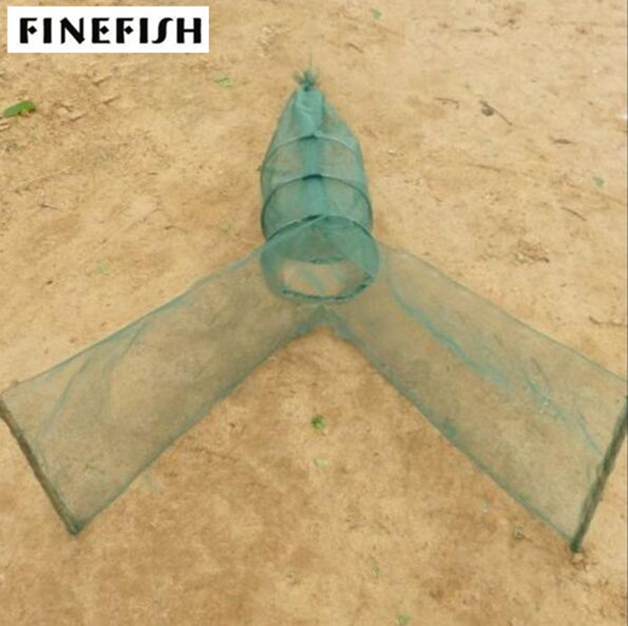 Finefish Foldable Automatic Fishing Net Crab Fish Lobster Shrimp Minnow Fishing Bait Landing Net ...