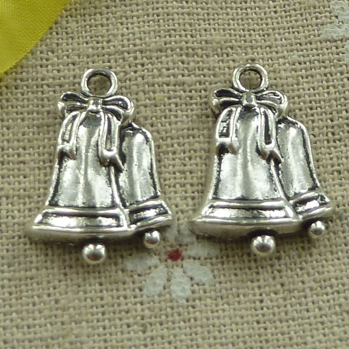 Home & Garden Open-Minded 135 Pieces Tibetan Silver Small Bell Charms 23x16mm #3259 More Discounts Surprises