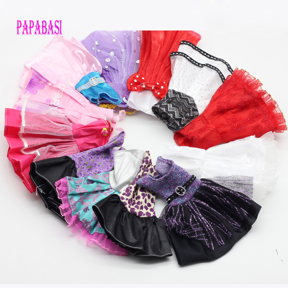 5 Pcs Fashion Wedding Dress Party Gown Clothes Outfits For Barbies Girls Doll Accessories Random Style
