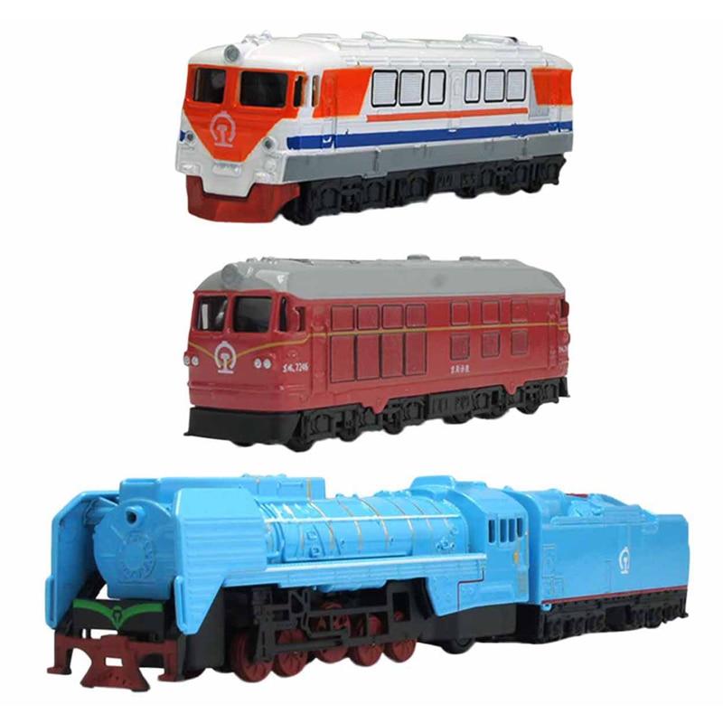 4 unids/set Mini Aleación Modelo de Vehículo de Transporte de Ferrocarril con Re