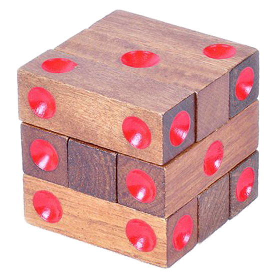 New Wooden Assembling Dice Cube Jigsaw Puzzle Brain Teaser
