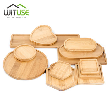 WITUSE Boutique Simple Home Square Tray Bamboo Flower Pot Tray Flower Pot Bonsai Flower Pots Water Tray Gardening Accessories 1