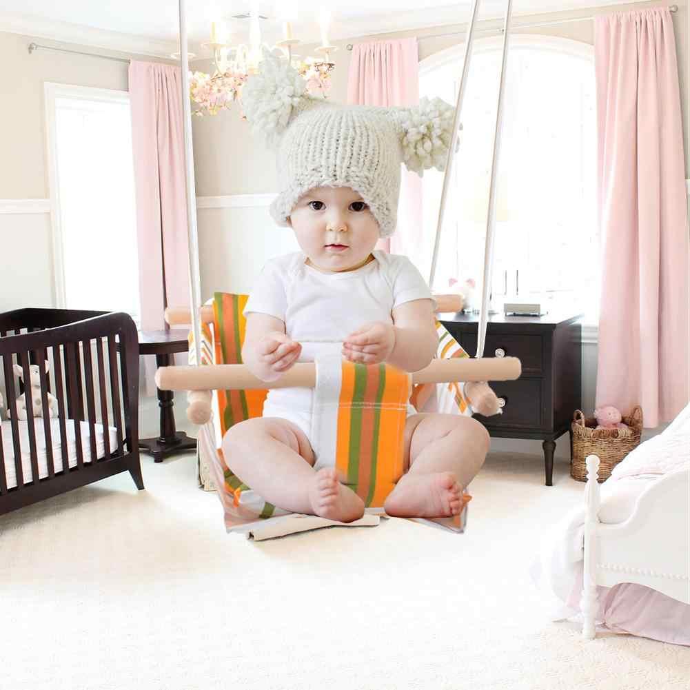 Открытый игрушки дети детский сад ребенок холст качели стул деревянный Крытый малого размахивая корзина качалка с подушкой