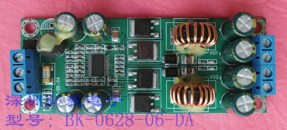DC/DC dual way buck module dual output 24V to 12V\5V, 12V to 5V\3.3V dual way Buck dc dc lm2596 adjustable power buck module 24v to 48v 12v 24v turn 12v 5v