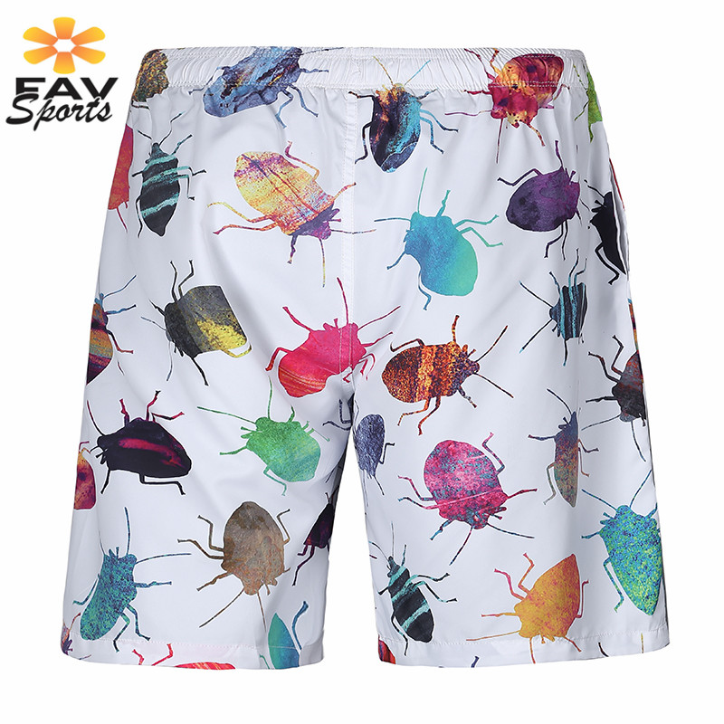 2018 Mens   Board     Shorts   3D Print Plus Size Beach   Shorts   Surf   Board   Pants Quick Dry Swimwear Bathing suit Swimming Trunks Pants