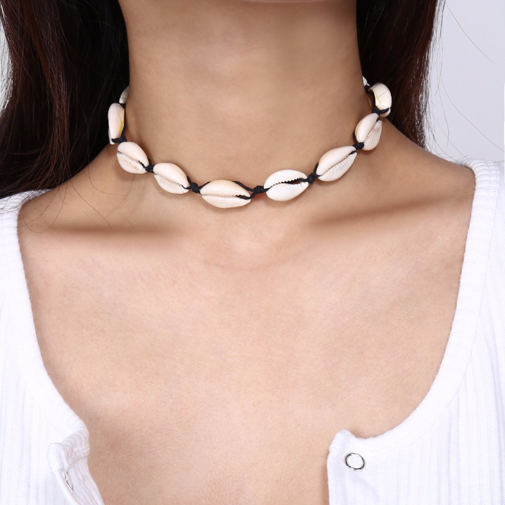 Artilady shell choker necklace gold chain necklace Cowrie boho jewelry for women party gift drop shipping 8