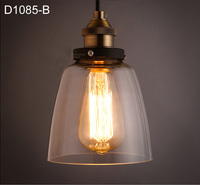 American Country Style Loft Lamp Contracted Glass Pendant Light Personality Bar Cafe Art Deco Lighting Vintage Edison Lamp