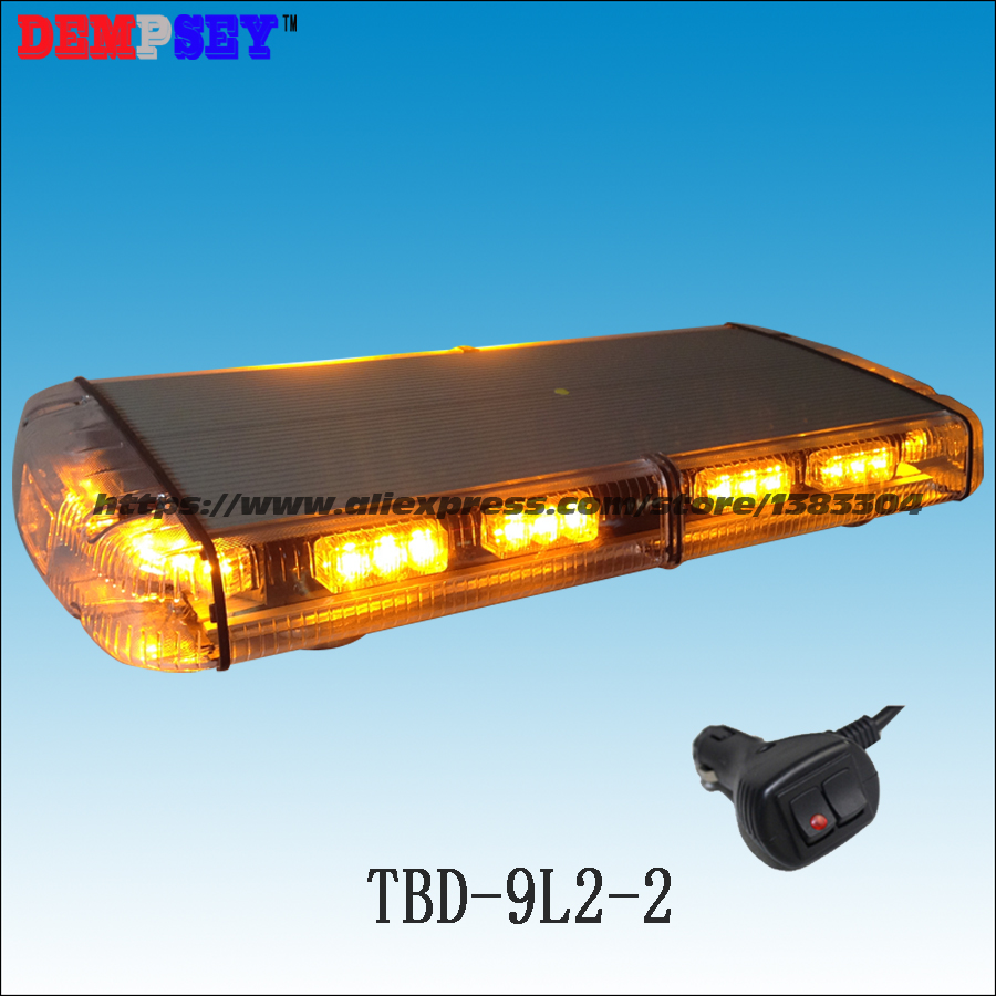 Bernstein Notfall/polizei Licht Dc24v Auto Dach Magnet Blinkendes Warnlicht Tbd-9l2-2 Super Helle Led Minilightbar