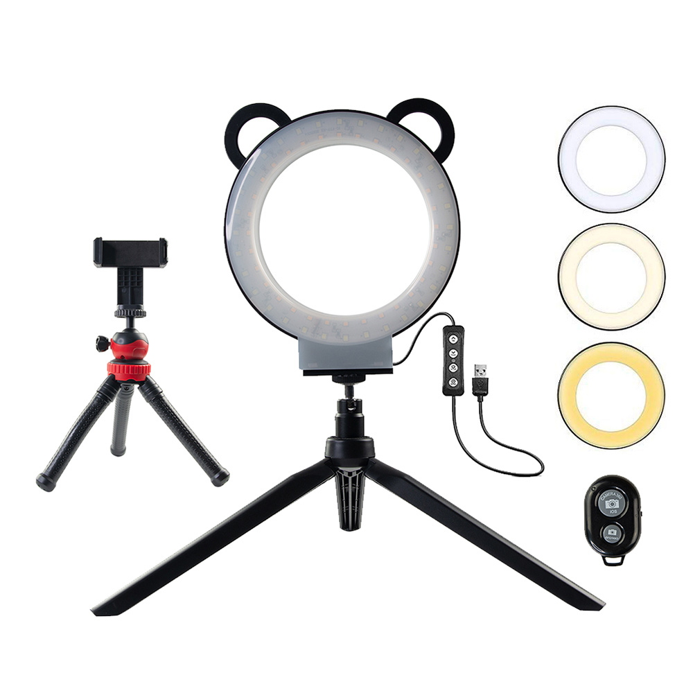 Photography Ring lamp LED Selfie Ring Light YouTube Video Live 3200-5500k Photo Studio Light With Phone Holder USB Plug TripodPhotography Ring lamp LED Selfie Ring Light YouTube Video Live 3200-5500k Photo Studio Light With Phone Holder USB Plug Tripod