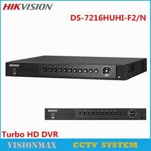 Hikvision 16CH Turbo HD DVR DS-7216HUHI-F2/N Support HD-TVI/IP/AHD/Analog Camera Up to 4K Video Recorder CCTV Surveillance DVR