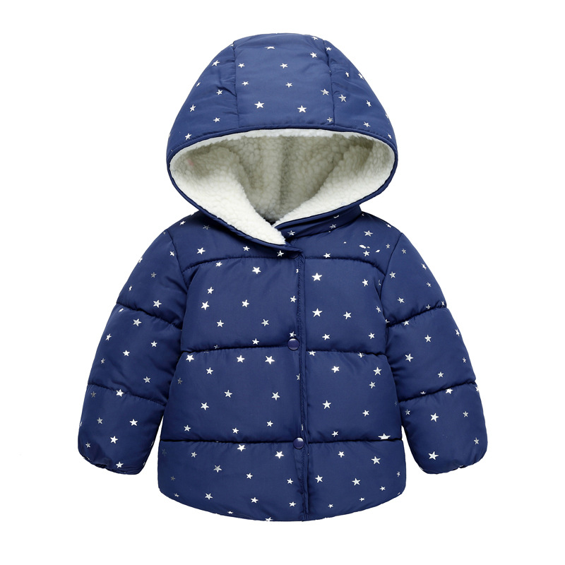 2018 new thickened children's clothing autumn and winter children's cotton jacket boys and girls cotton baby infant baby cotton pregnant women coat autumn and winter cotton fashion long section slim was thin feather cotton clothing thickened cotton jacket