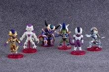 6Pcs/Lot Pcs Anime Dragon Ball Z  Action Figures Frieza KidsToys for Children Adult Birthday Christmas Halloween Gift