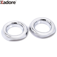 Front Foglight Cover External Round Lamp Hoods 2PCS SET ABS Chromed Plastic Auto Parts For Jeep