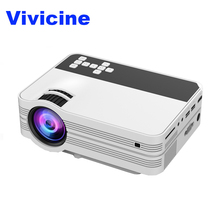 Vivicine V7 Mini Video Projector,2000 Lumens Portable Multimeida TV Projector for Movie Games,Home Theater Beamer HDMI USB PC