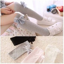 Baby Girl Stockings Tights Cute Pantyhose Children Princess Lace Bow Tie Toddler Knee Ballet For 1-15T