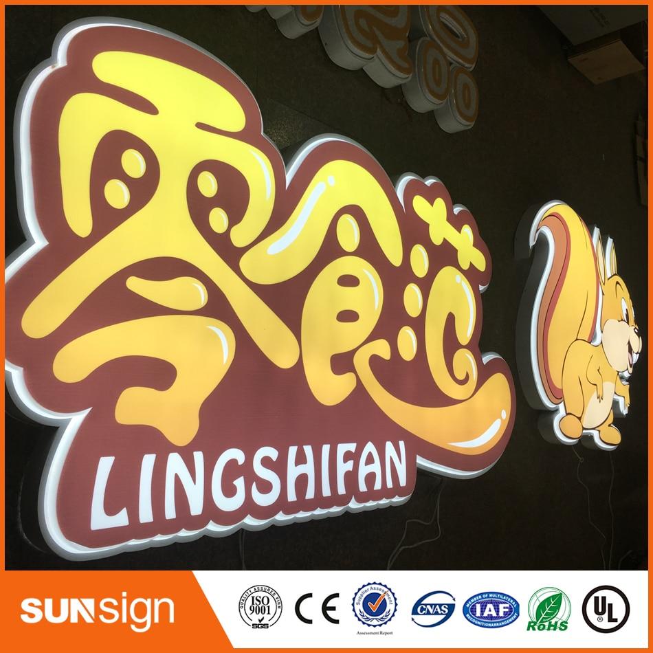 New Design Acrylic Faces Led Customized Light Box And Light Board