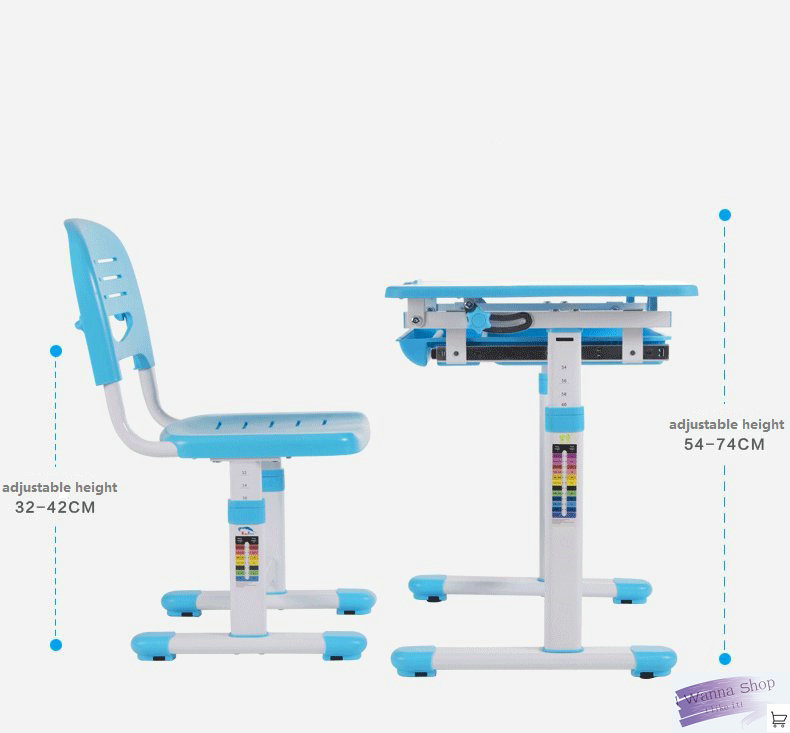 Kids Furniture Set Desk Children Learning Table Height Adjustable Desk And  Chair Set To Prevent Myopia Study Table For Kids In Children Furniture Sets  From ...