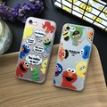 Lindo de la historieta Sesame Street elmo cookie monsters duro de la cubierta Transparente casos de teléfono para iphone 5 5s se 6 6 s 7 plus