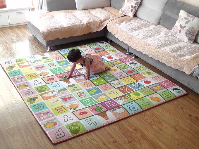 Bébé Jouets enfants Ramper Tapis de Jeu de puzzle épaisseur 200*180*2 CM double-face mousse Infantile tapis montée Pad tapis Livraison Gratuite - 4