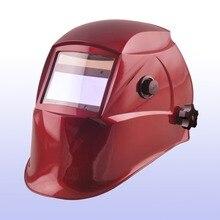 Авто затмевая шлем/сварочные маски/MIG MAG TIG (Yoga-718G) красный цвет