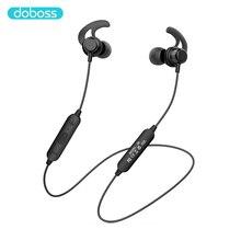 سماعات أذن لاسلكية من Doboss مزودة بتقنية البلوتوث سماعات أذن مزودة بشريط حول الرقبة مغناطيس للتشغيل بصوت ستيريو مع ميكروفون