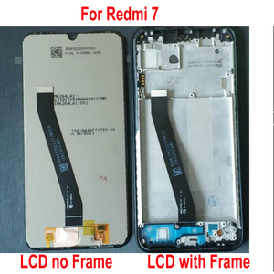 Image 2 - 100% Original New Xiaomi Redmi 7 Hongmi 7 Glass Sensor IPS LCD Display 10 Point Touch Panel Screen Digitizer Assembly with Frame