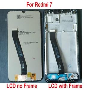Image 2 - 100% オリジナルの新 Xiaomi Redmi 7 コリア 7 ガラスセンサー IPS 液晶ディスプレイ 10 点タッチパネルスクリーンデジタイザアセンブリとフレーム