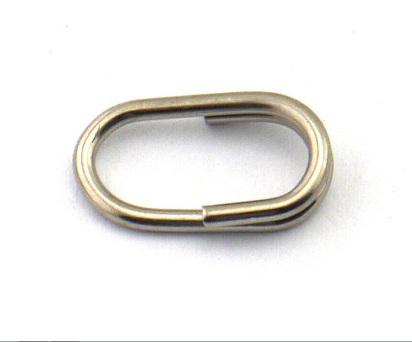 Free shipping 100pcs lot oval split rings strong stainless for Fishing split rings