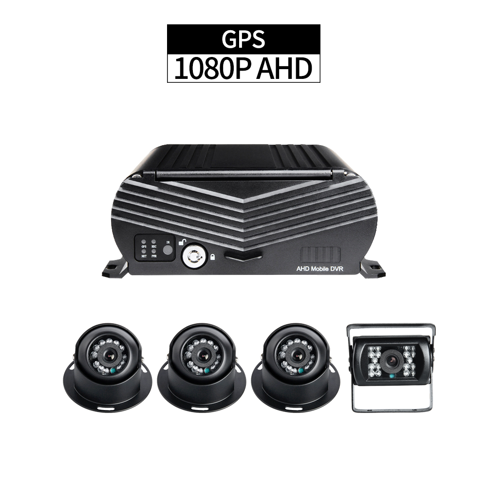 GPS Mobile DVR Kit ,4CH HDD 1080P Security Car DVR Recorder G-sensor Loop Video with 4PCS AHD 2.0MP Cameras for Bus Taxi Truck free shipping i o g sensor h 264 2tb hdd 4ch vehicle 720p ahd car dvr video recorder mdvr video playback for taxi bus truck van