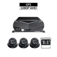 GPS Mobile DVR Kit ,4CH HDD 1080P Security Car DVR Recorder G sensor Loop Video with 4PCS AHD 2.0MP Cameras for Bus Taxi Truck