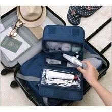 Новинка, нейлоновая сумка для косметики, упаковка, кубики, для путешествий, Женская Складная сумка-Органайзер, сумка на крючке, вещевой мешок, malas de viagem