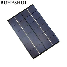BUHESHUI 4.2W 6V Solar Cell Polycrystaline Solar Panel Module DIY Solar Charger For 3.7V Batt ery 200*130MM 10pcs Free Shipping