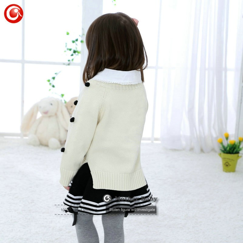 Kids Tinny Cotton Boys Sweater Children Pullover Cardigan Coat For Girls Baby Long Sleeve Knitwear Christmas Clothes With Balls (31)