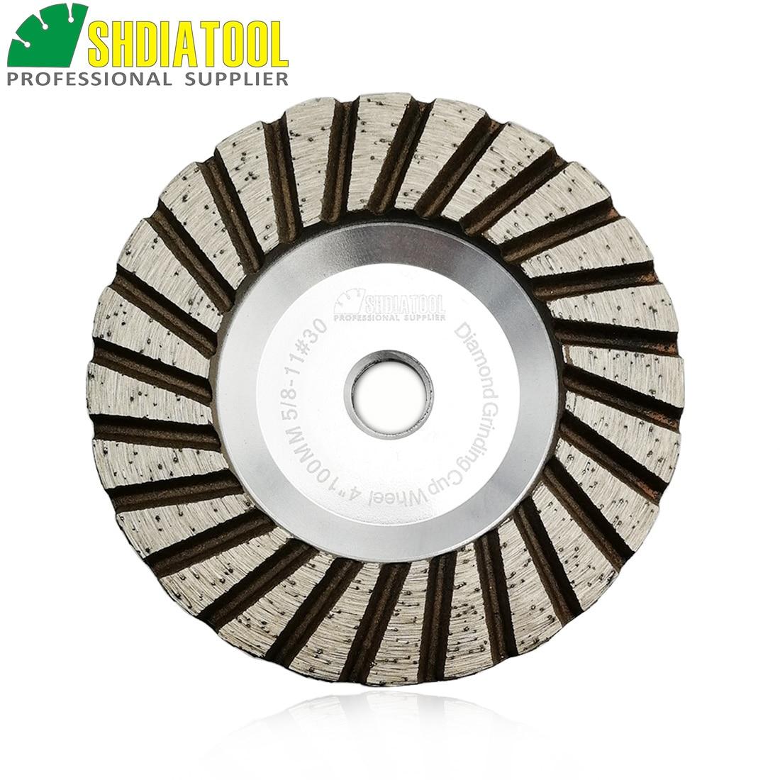 Rebolo de Moagem 100mm de Alumínio Shdiatool Diâmetro 4 Baseado Diamante Copo Disco Granito Mármore Rebolo 1pc 5 – 8-11