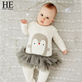 HE Hello Enjoy baby clothes autumn newborn baby girl clothes Long sleeve Animal penguins jumpsuit outfit enfants baby rompers