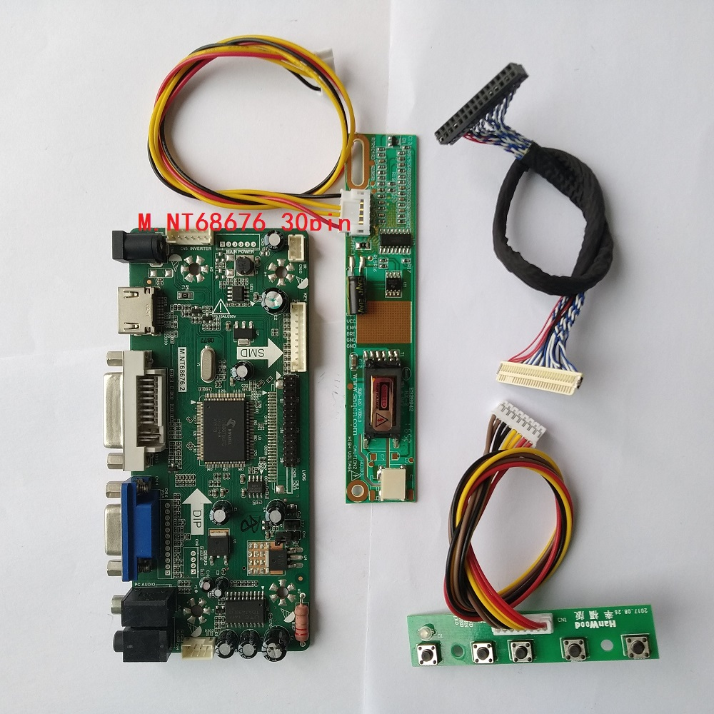 M.NT68676 HDMI DVI VGA controller board Kit DIY for LTN170WU-L02 1920X1200 Panel