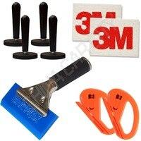 Blue razor blade scraper water squeegee car film magnet holders wool squeegee scraper car wrap cutting.jpg 200x200