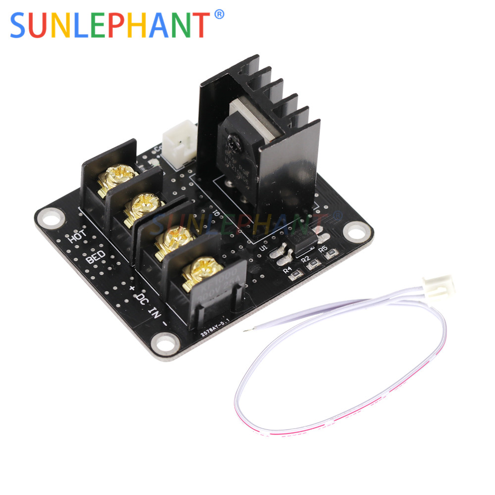 Image 2 - Heated Bed Power Module /Hotbed MOSFET Expansion Module Inc 2pin Lead With Cable for Anet A8 A6 A2 Ramps 1.4-in Integrated Circuits from Electronic Components & Supplies