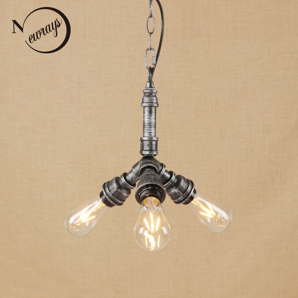 Vintage iron metal pendant lamp LED 3 lamp Pendant Light Fixture E27 110V 220V For Kitchen Lights Cabinet study dining room bar 2017 new design bar metal dinning room pendant lamp lampada luminarias decoration lighting fixture with led bulbs 110v 220v