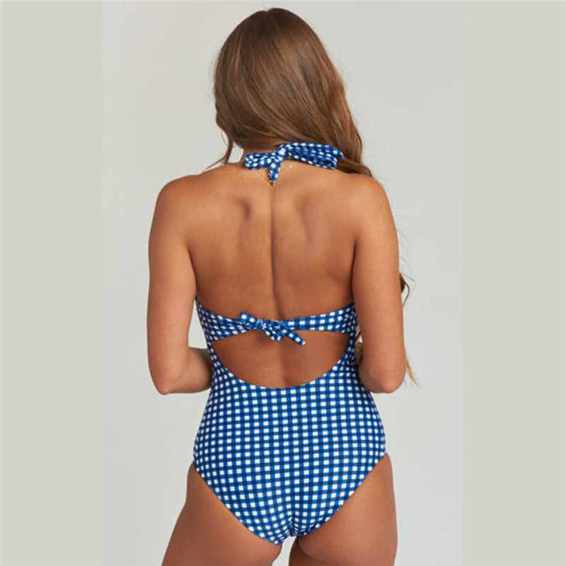 ملابس السباحة Swimwear ملابس السباحة الحوامل قطعة واحدة شعرية طباعة ثوب سباحة مثير ملابس حريمي 2019 yi45