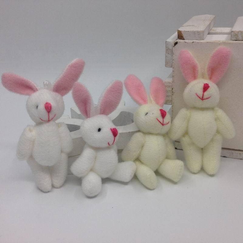 5X Mini 6CM Approx. Joint Rabbit Little Plush Stuffed TOY DOLL , Garment & Hair Accessories Decor Plush Toys Dolls