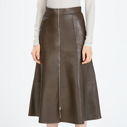PU Black Skirts Womens Autumn Winter UK Plus Big Size Woman A-Line High Waist Skirt Midi Long Leather Skirt