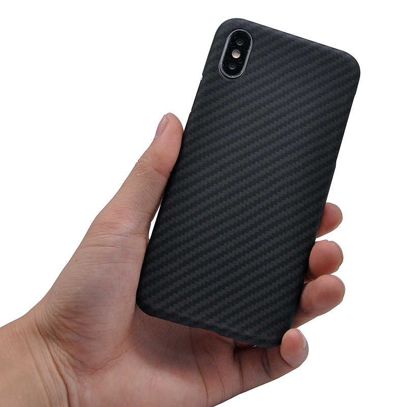 new concept 6a98b 94692 SiMR 100% Real Carbon Fiber Case For iPhone X Luxury Case Cover For iPhone  X Hexagon Spider Carbon Fibre Case Freeshipping